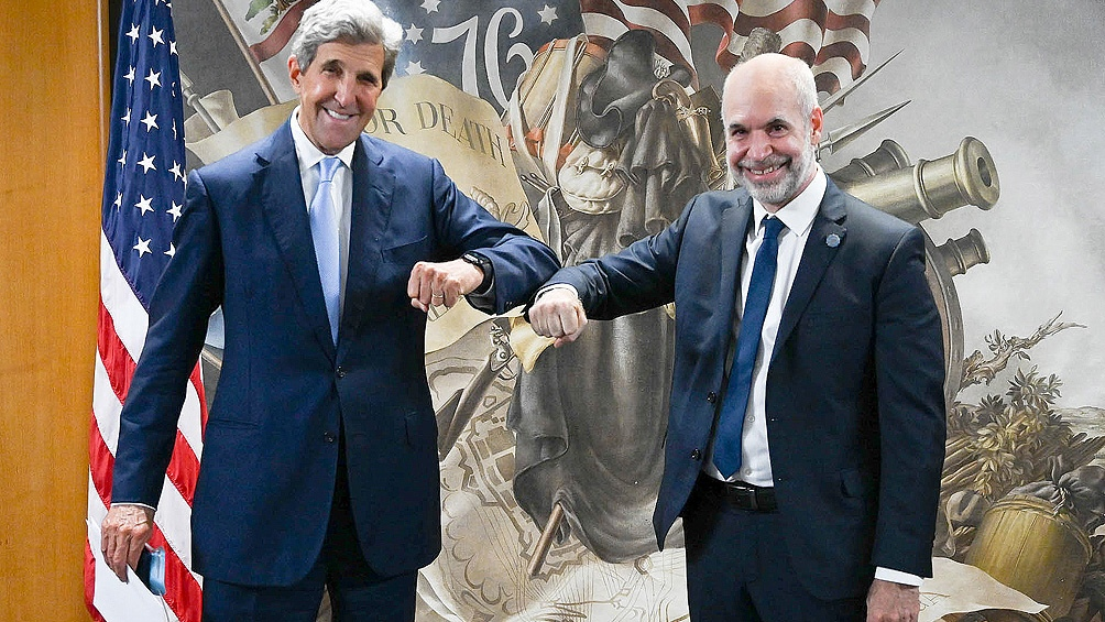 Ambos dirigentes conversaron sobre la participación de Buenos Aires en la Conferencia de las Naciones Unidas sobre el Cambio Climático COP26.