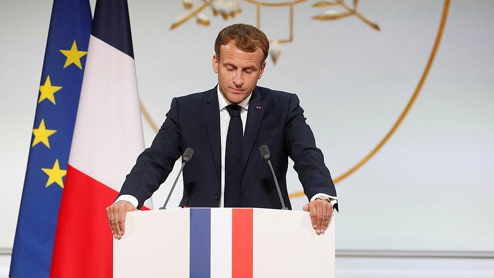 Macron le pidió perdón a los argelinos. Foto: AFP