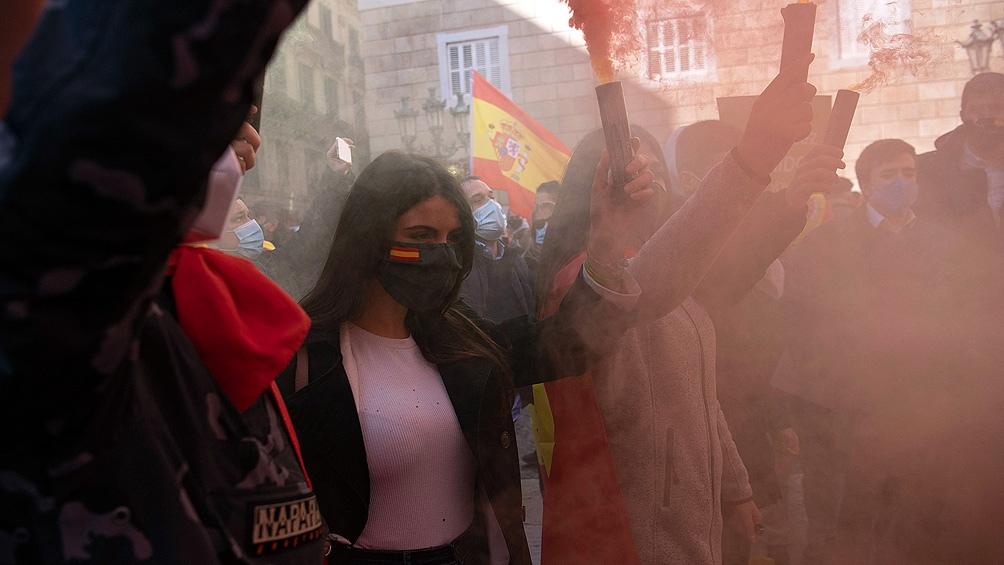 """""""Soy de origen español y me llamó la atención el partido Vox, que ha ido creciendo y que directamente, abiertamente, se declara en contra del feminismo"""". Foto: AFP"""