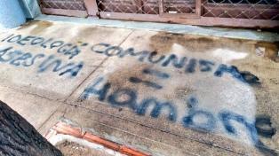 Referentes de izquierda denunciaron ataque a un local partidario y un mural de Mariano Ferreyra