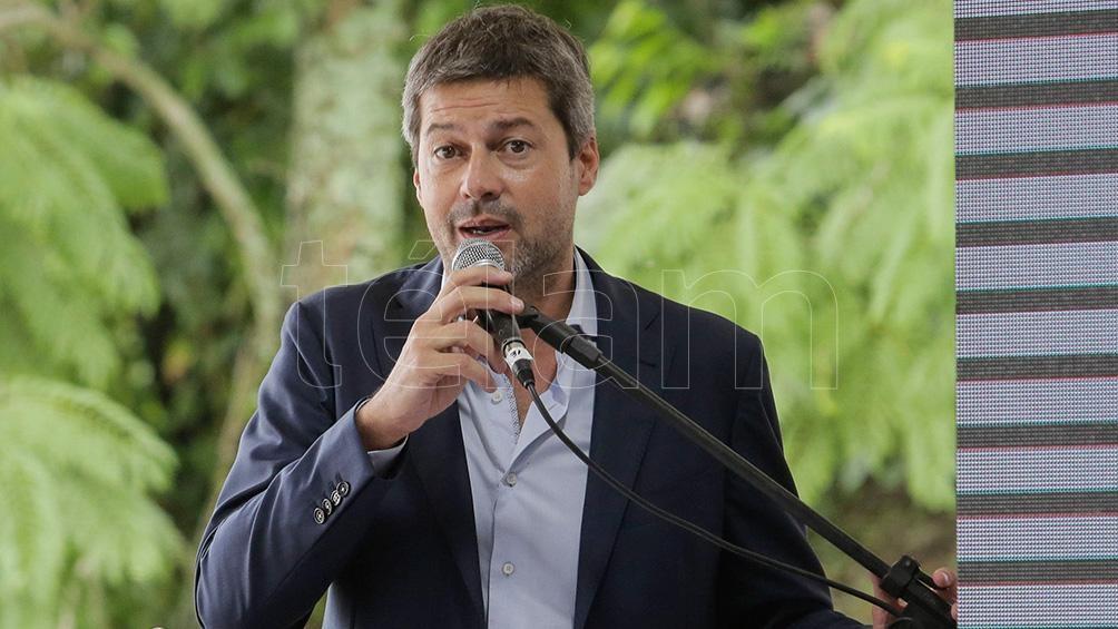 """El ministro Lammens aseveró que hay """"una expectativa muy grande respecto al turismo con los países limítrofes"""". (Foto: Adrián Lugones)"""