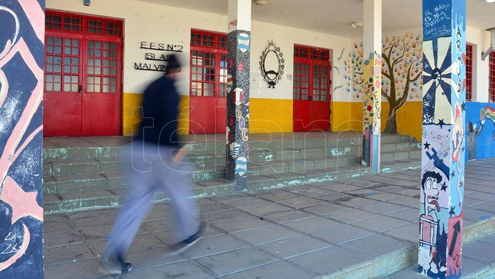 La escuela Islas Malvinas, hoy. (Foto: Marcelo Ochoa).