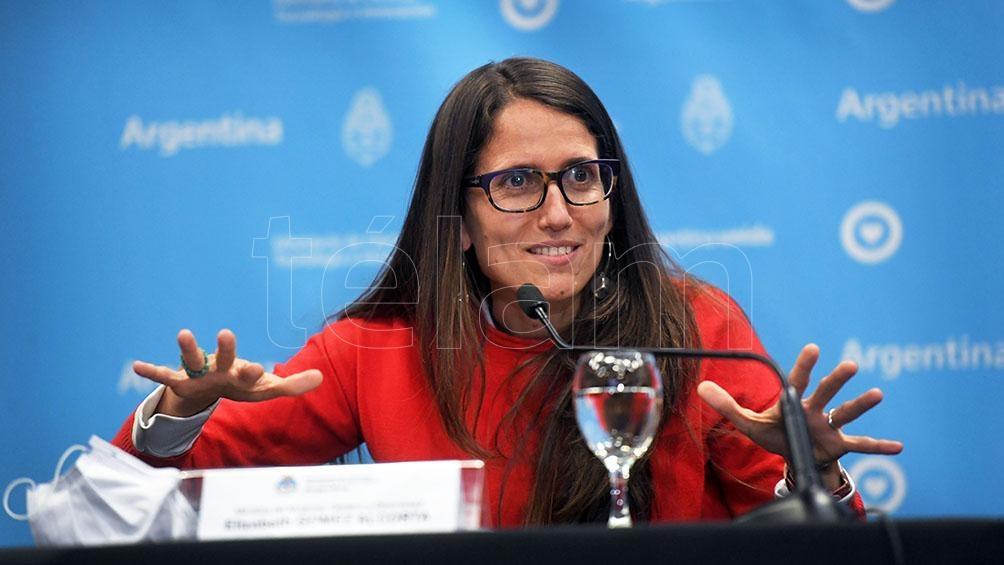 """La ministra de Mujeres, Géneros y Diversidad, Elizabeth Gómez Alcorta, destacó la implementación del Programa """"Registradas"""" lanzado por el Gobierno."""