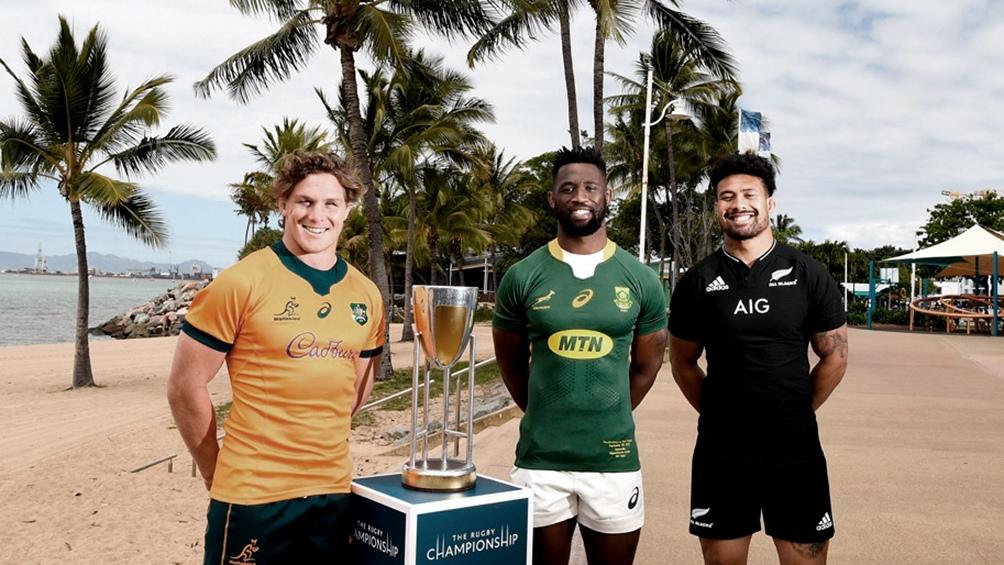 La polémica foto del trofeo del Rugby Championship.