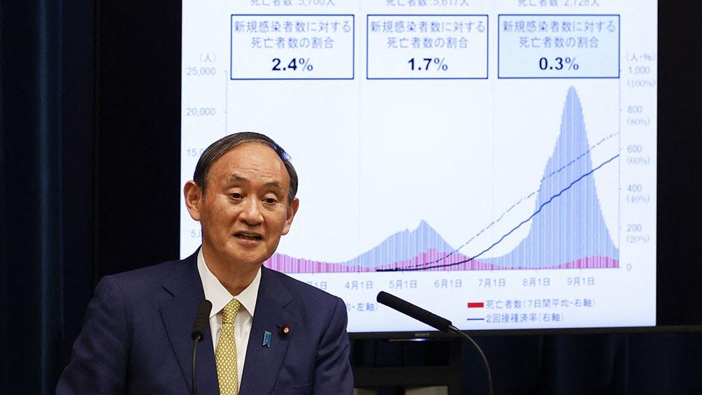 El primer ministro, Yoshihide Suga, levantará el estado de emergencia.