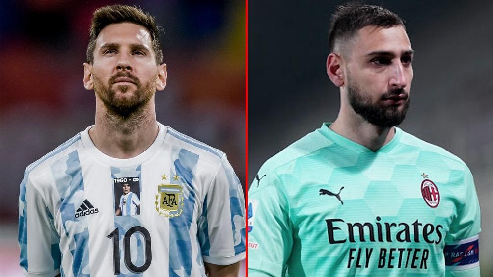 Messi y Donnarumma: las figuras de los campeones continentales de América y Europa.