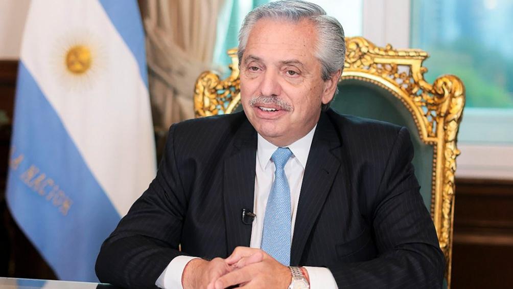 """Fernández habló en el panel sobre compromisos para """"crear trabajos decentes"""" y """"expandir la protección social""""."""