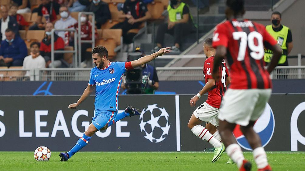 Atlético Madrid, en el final, lo dio vuelta frente al Milan en Italia