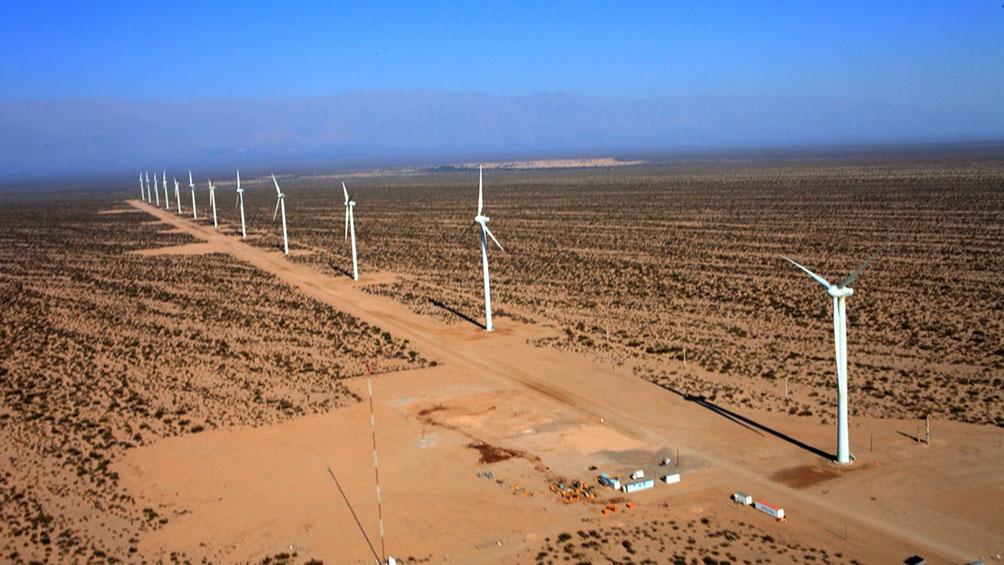 El Parque Eólico Arauco, en La Rioja, a 90 kilómetros de la capital provincial. (Foto: IMPSA)