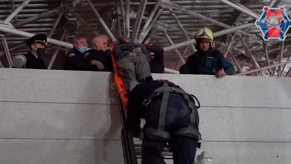 La operación de rescate se prolongó por cuatro horas. En una de las maniobras por escabullirse de la persecución.