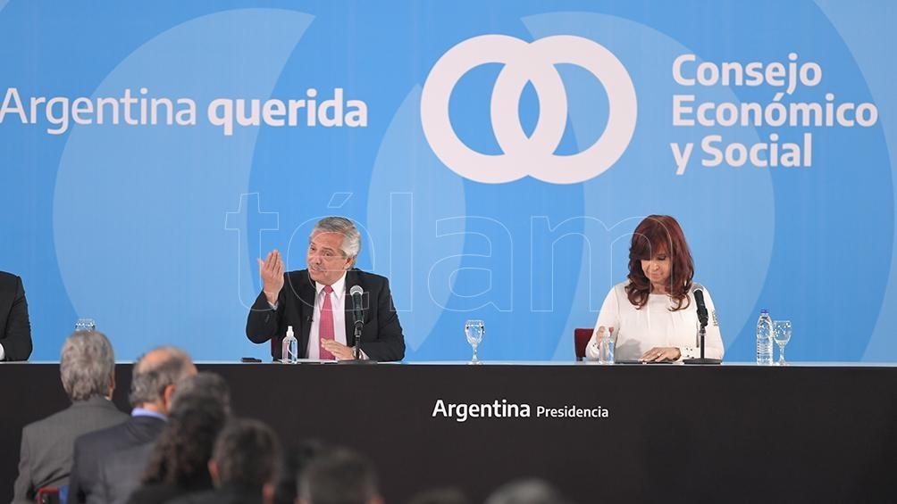 """Alberto Fernández: """" Esta es una ley que reivindica la cultura del encuentro"""". (Foto: Julián Alvarez)"""