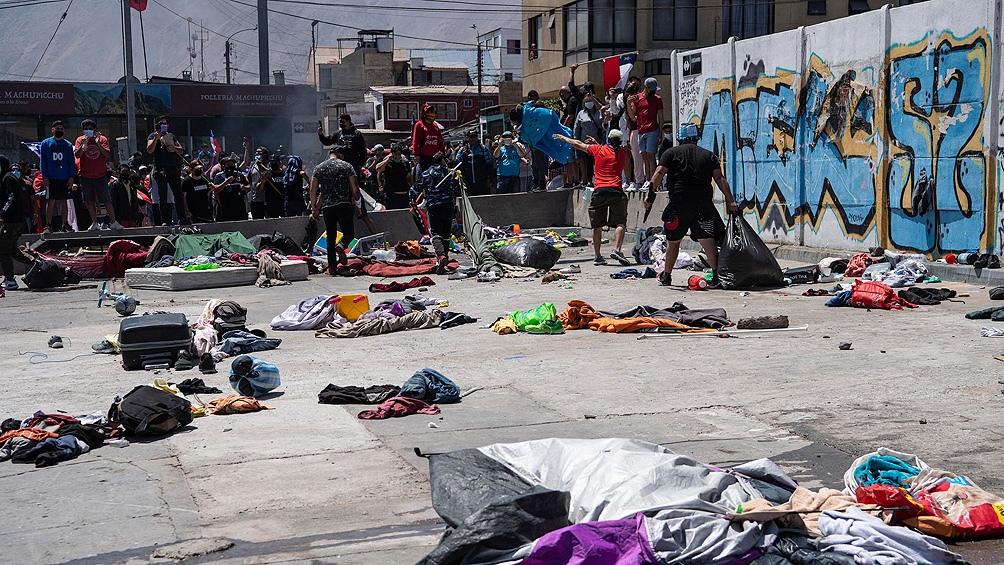 El domingo está convocada una marcha nacional antimigrantes. Foto: AFP
