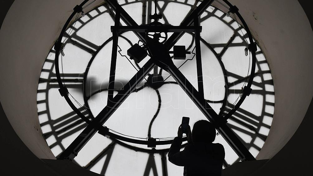 Los cuatro relojes se encuentran en cada uno de los lados de la torre del palacio. Foto: Pablo Añeli