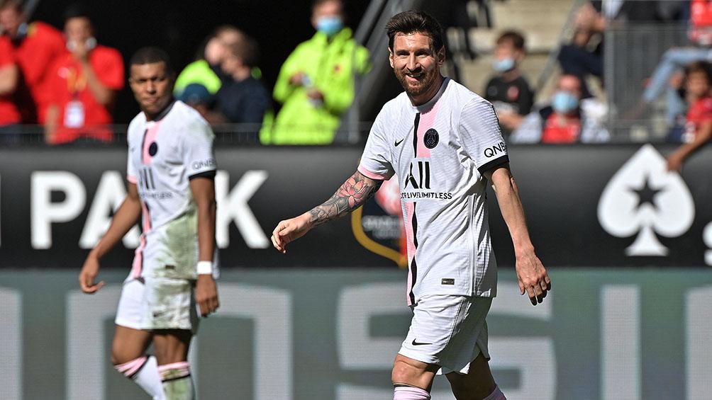 El PSG, con Messi en el tridente estelar, perdió el invicto ante el Rennes