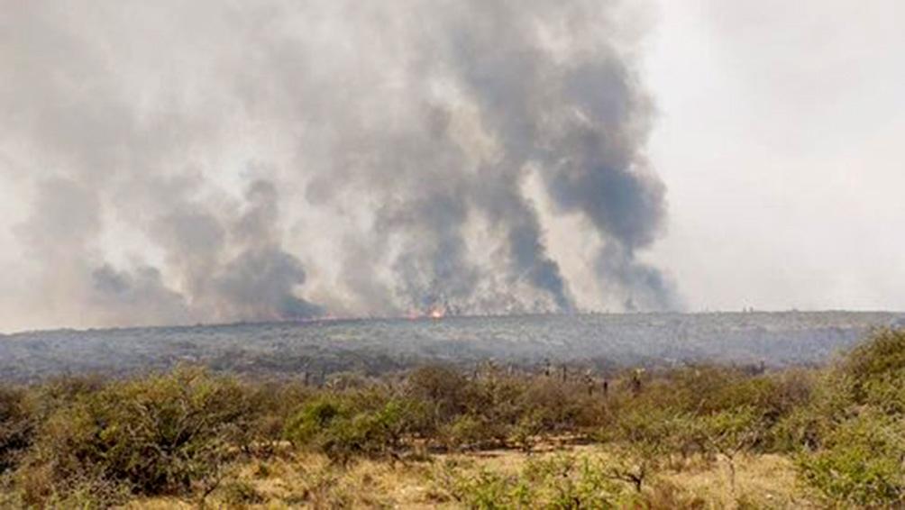 Continúa el combate a los incendios del norte cordobés