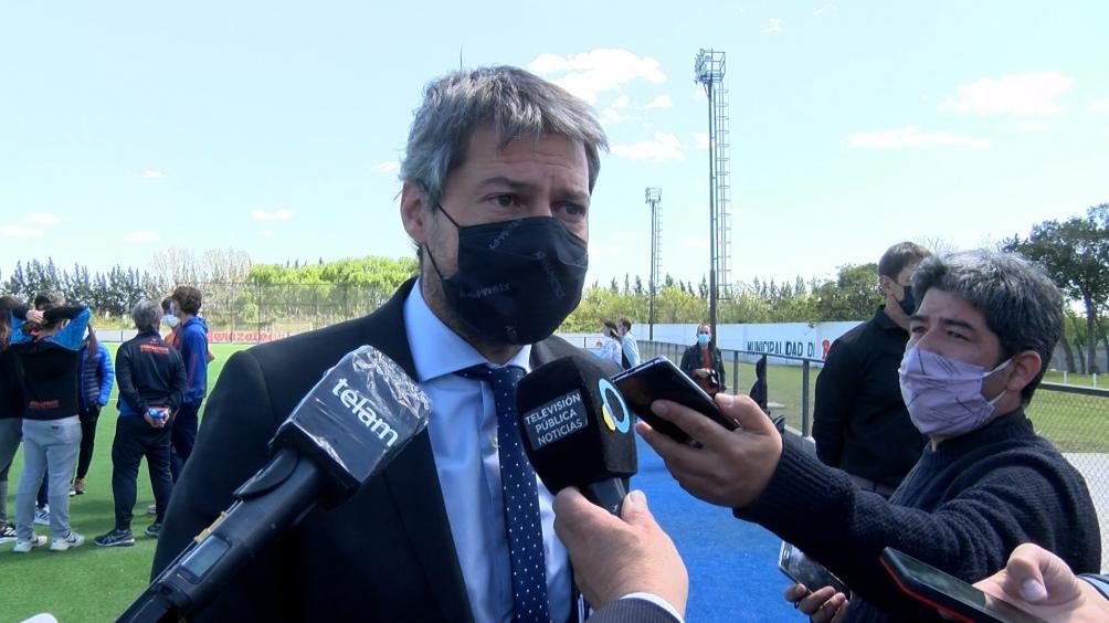 """El ministro de Turismo y Deportes, Matías Lammens, destacó los """"resultados"""" conseguidos este fin de semana en el control del aforo en los estadios de fútbol."""