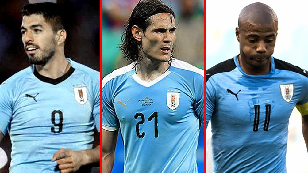 Uruguay recupera a Suárez, Cavani y De la Cruz para la triple fecha