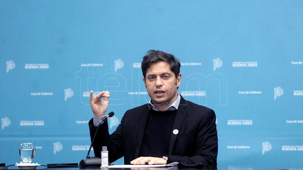 El gobernador bonaerense, Axel Kicillof, anunció la segunda dosis de vacunación contra el coronavirus libre. (Foto Eva Cabrera)