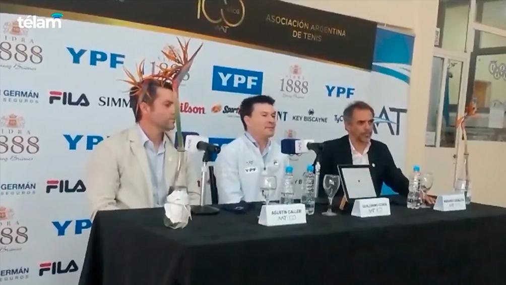 Guillermo Coria fue presentado como nuevo capitán de Copa Davis