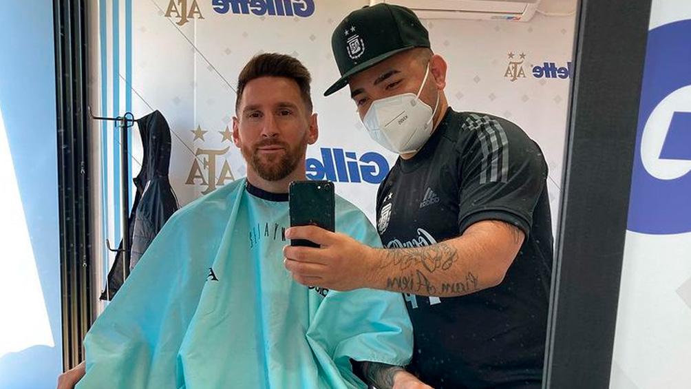 Messi se prepara adentro y afuera de la cancha