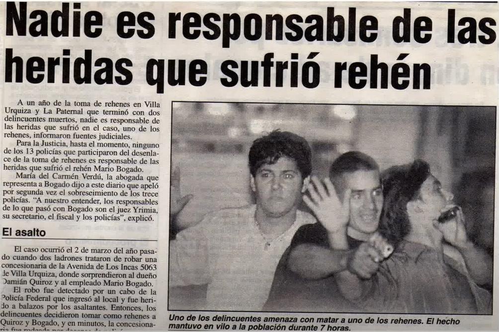 Marzo de 2020. La toma de la concesionaria de Villa Urquiza dejó dos delincuentes muertos y dos rehenes heridos.