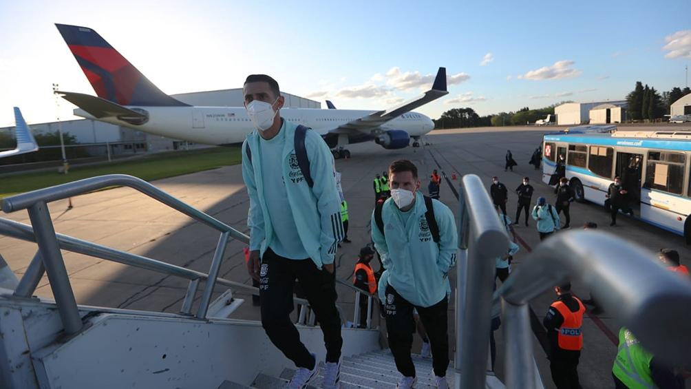 La Selección ya está en Paraguay para el partido de este jueves