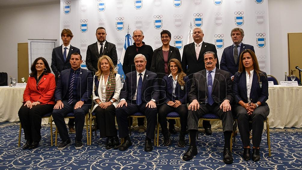 La nueva estructura del Comité Olímpico Argentino, bajo el comando de Mario Moccia. Foto: Eliana Obregón