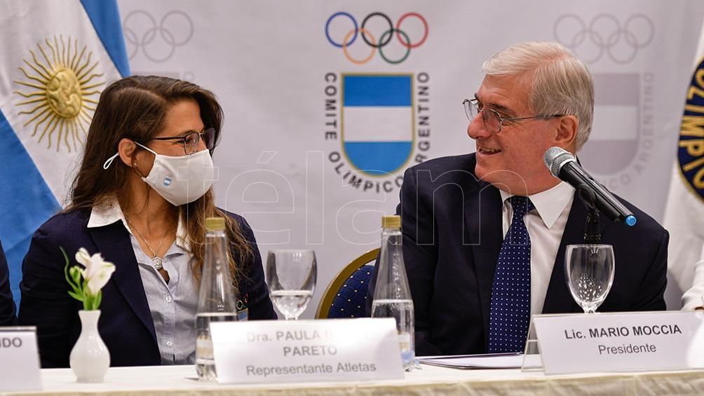 Pareto junto al flamante presidente del COA, Mario Moccia. Foto: Eliana Obregón