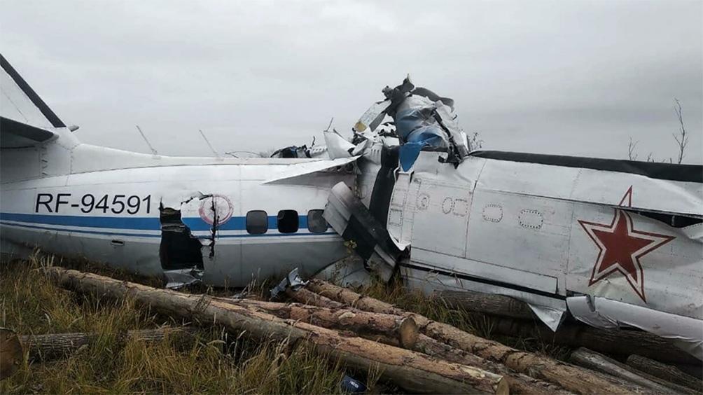 El avión, fabricado en la República Checa y de tipo L-410, se estrelló en la república de Tartaristán