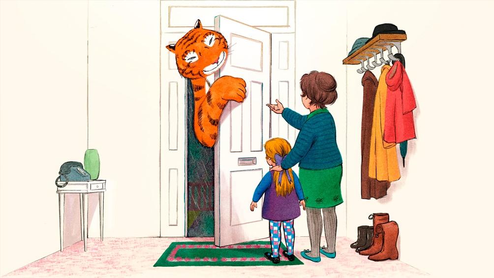 """""""The Tiger Who Came to Tea"""" (""""El tigre que vino a tomar el te"""") está basada en un muy popular libro para niños del mismo nombre"""