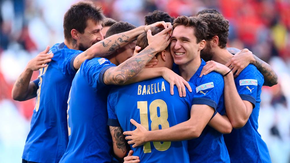 Italia derrotó a Bélgica y terminó tercera en la Liga de Naciones de Europa