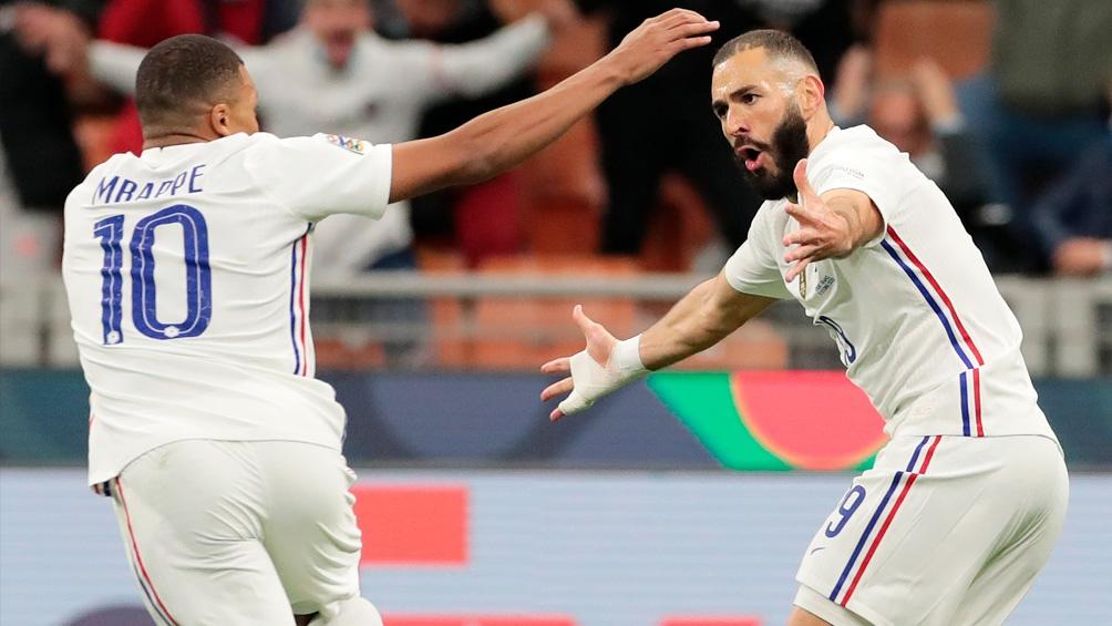 Mbappé y Benzema fueron los autores de los goles que le dieron el título a Francia ante España.