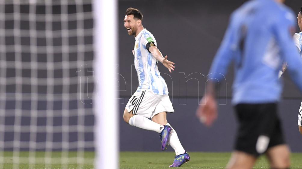 El rosarino ya lleva 80 goles con la casaca argentina (Foto: Julián Alvarez).