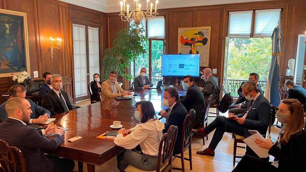 Guzmán comenzó una semana de reuniones en Washington con el FMI .