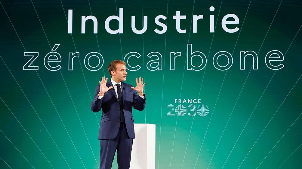 A seis meses de las elecciones, Macron anuncia un plan para reindustrializar el país