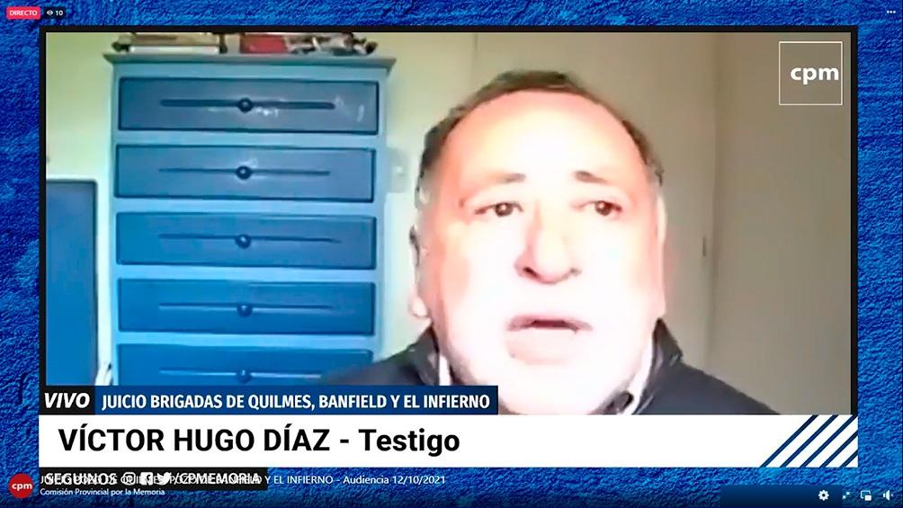 El relato de Víctor Hugo Díaz.