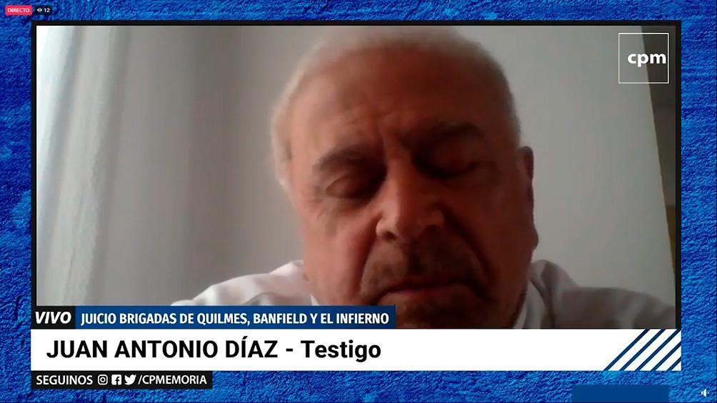 El testimonio de Antonio Díaz.