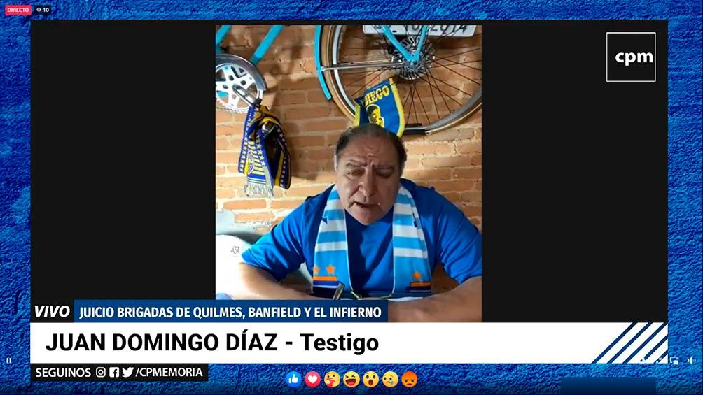 La declaración de Juan Domingo Díaz.