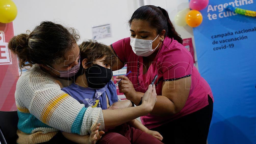 Está en marcha la vacunación de niños.