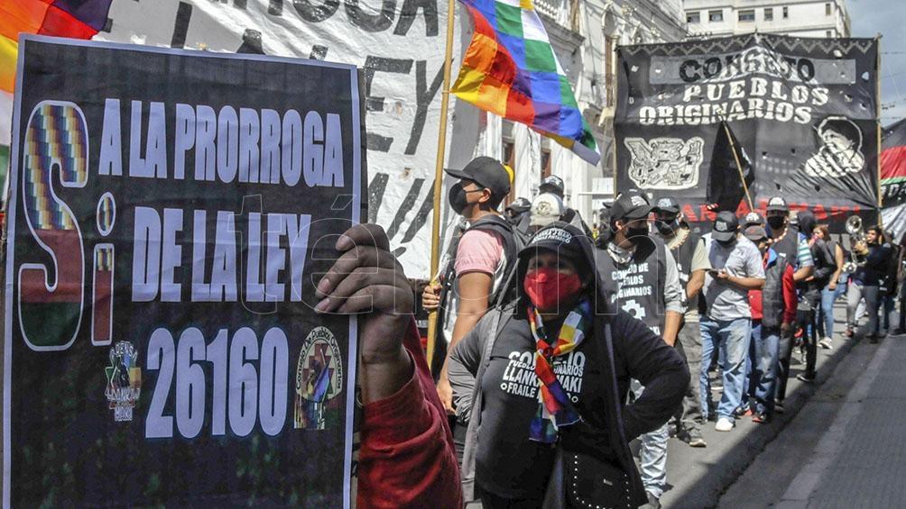 Entre los reclamos del colectivo se destacó el rechazo a la exploración y explotación del litio en la zona de Salinas Grandes. Foto: Edgardo Varela.