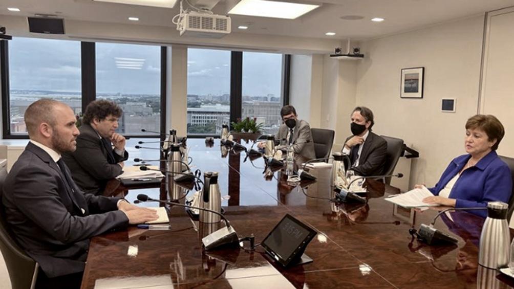 El ministro de Economía, Martín Guzmán, se reunió con la directora gerenta del FMI, Kristalina Georgieva.