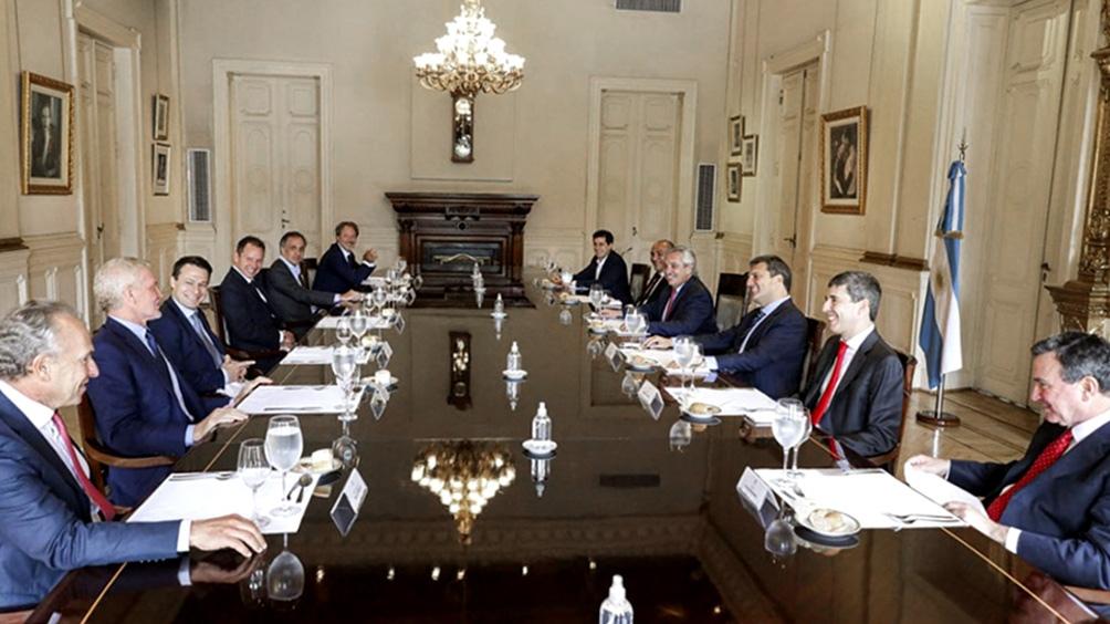 Alberto Fernández se reunió con un grupo de empresarios el último martes