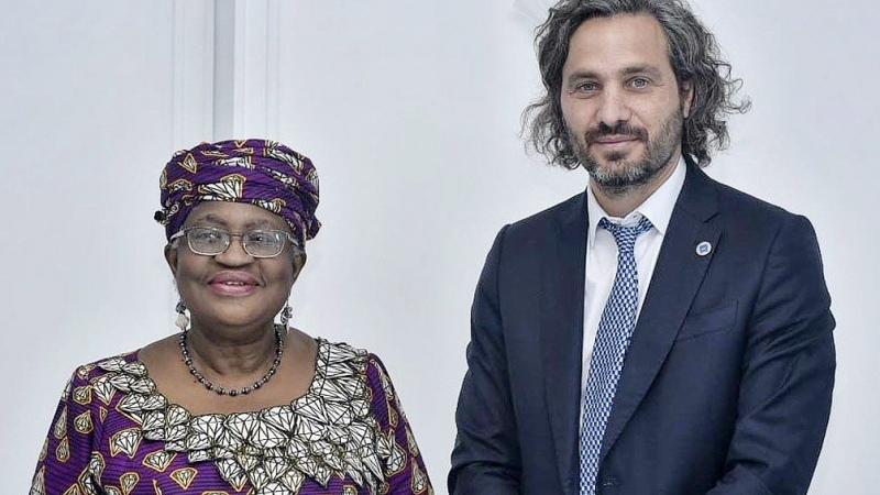 Cafiero se reunió con la directora general de la OMC
