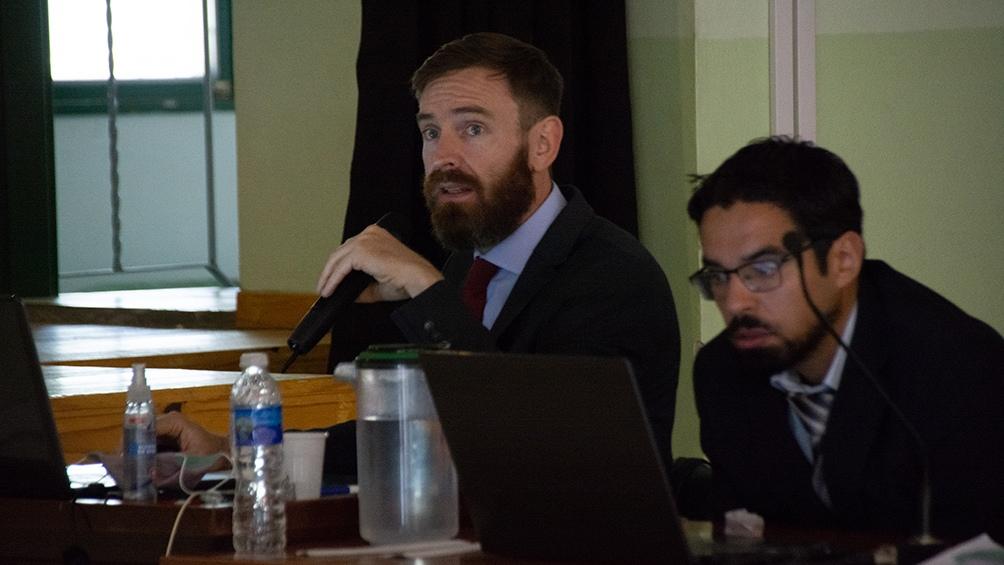 El equipo del MPF encabezado por José Nebbia, expuso los casos en una jornada que se extendió por casi ocho horas. Foto David Sánchez.