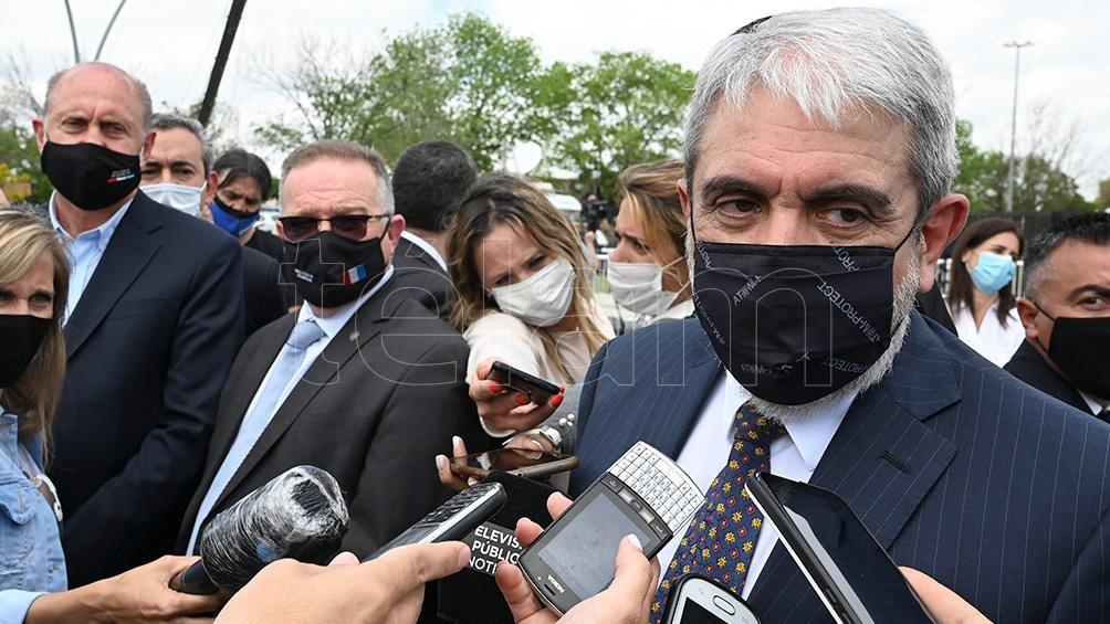 """""""No es un problema de los santafesinos y mucho menos de los rosarinos"""" dijo el ministro sobre el narcotráfico, sino que """"es un problema de los argentinos"""". Foto: Sebastián Granata."""
