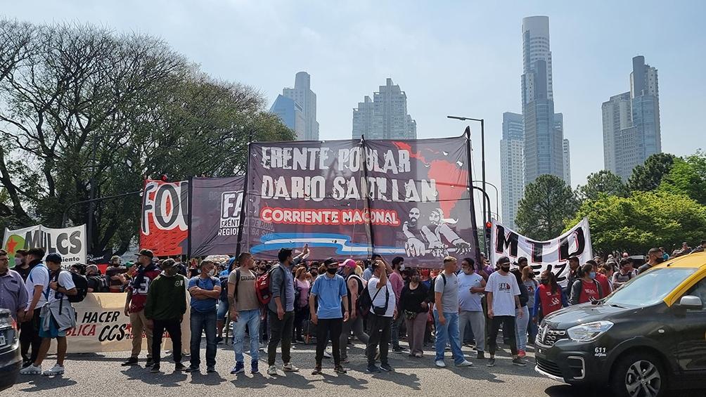 Las protestas se realizaron con cortes parciales en los puentes Pueyrredón, La Noria y Saavedra, como así también en la Autopista Buenos Aires-La Plata, y en la Riccheri. Foto: Leo Vaca