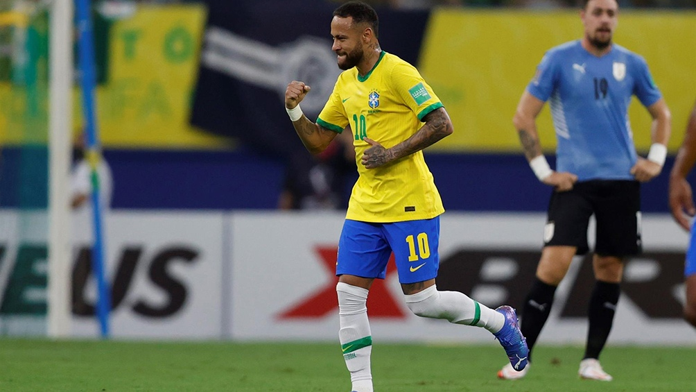 Neymar abrió la cuenta de la goleada (Twitter: @conmebol).