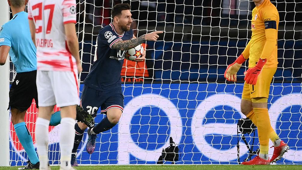 Con dos goles de Messi, el PSG lo dio vuelta y derrotó al Leipzig