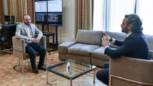 Guzmán y Cafiero analizaron la marcha de las negociaciones económicas internacionales