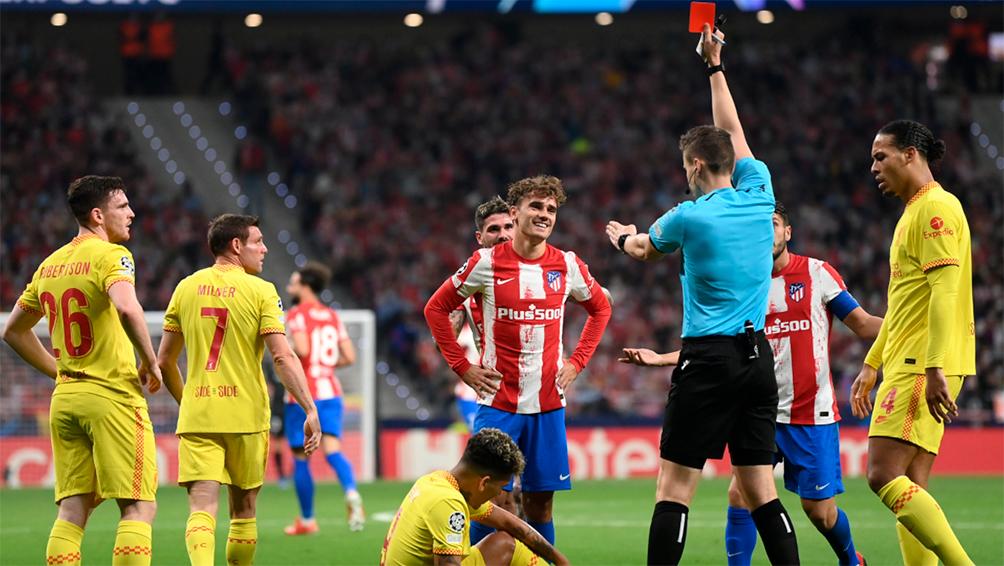 Atlético Madrid  cayó ante Liverpool, en un festival de goles
